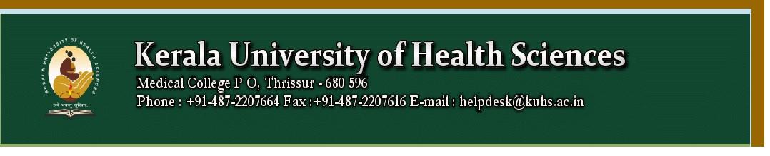 BSc Nursing Microbiology www kuhs ac in Kerala University of Health