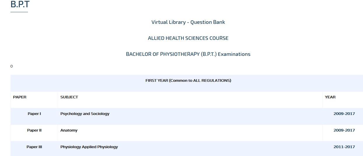 Physiology Applied Physiology Bpt Question Bank Webmgrmu