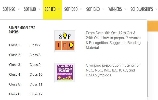 sofworld org IEO International English Olympiad Exam Sample Question