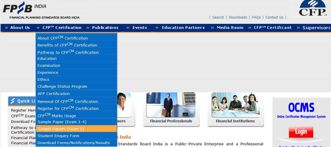 Fpsb Cfp Certification Exam Question Paper Sample Financial