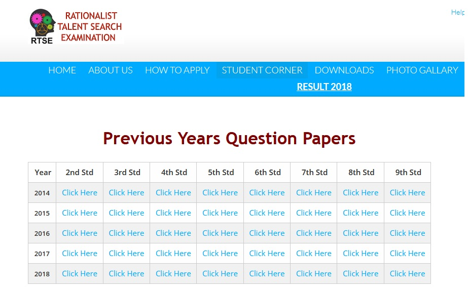 RTSE Rationalist Talent Search Exam Class VII Sample Question Paper