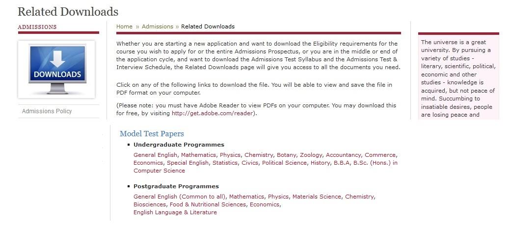 sssihl edu in B Ed  Mathematics Admission Test Question Paper : Sri